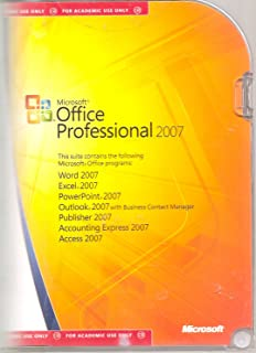 Microsoft Office Professional 2007 (Academic Use Only)
