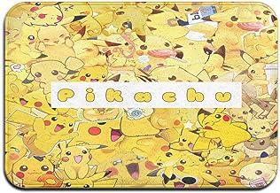 Large Puzzle Pokemon Tapis de bain en caoutchouc antidérapant pour sol de douche, salon et buanderie, 61 x 40,6 cm