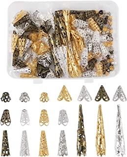Gold Plated Bead Cones 2 Bead Cones Bead Caps Flower Petal Bead Cones A14 Gold Bead Cones Jewelry Supplies Gold Bead Caps