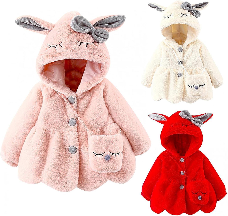 Newborn Tulsa Mall Baby Boys Girls Cute Rabbit Bag Coat Cartoon With Max 69% OFF Hooded