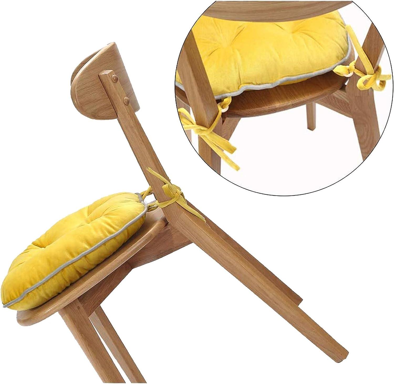 Fiz Chaise Pads Chaise de Salle Souple Coussin réversible Chaise Tapis Antiderapant Coussin de siège avec Attaches for Salle à Manger (2 Pack) 11-24 (Color : Gray) Blue