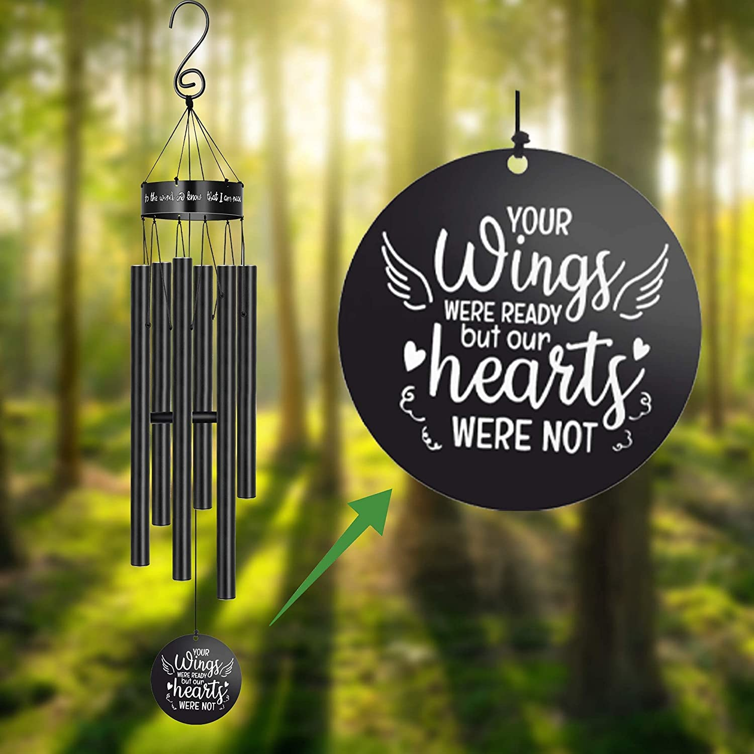 Sympathy Max 86% OFF Wind Large special price Chimes Outside for Rememberance Loss of One Loved