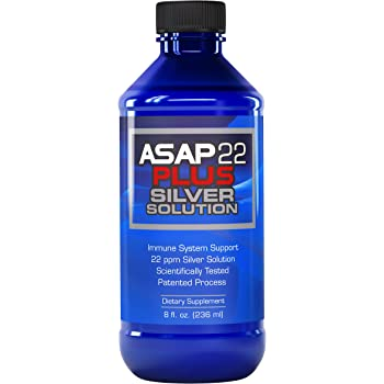 American Biotech Labs - ASAP 22 Plus Silver Solution - Immune System Support, 22 ppm Silver Solution Dietary Supplement - 8 fl. oz.
