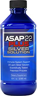 American Biotech Labs - ASAP 22 Plus Silver Solution - Immune System Support, 22 ppm Silver Solution Dietary Supplement - ...