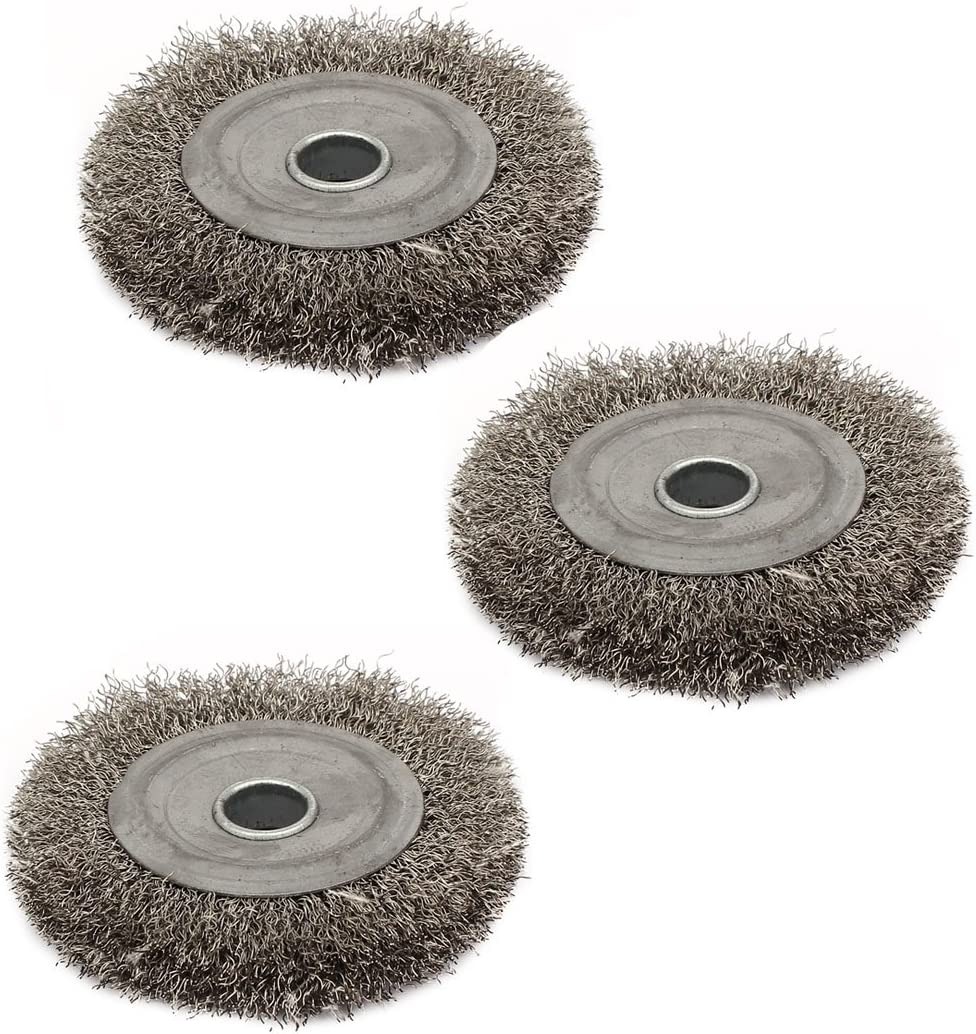 uxcell 100mm Dia Stainless Steel Wheel Brush Buff Polishing Wire Free Shipping Cheap In a popularity Bargain Gift