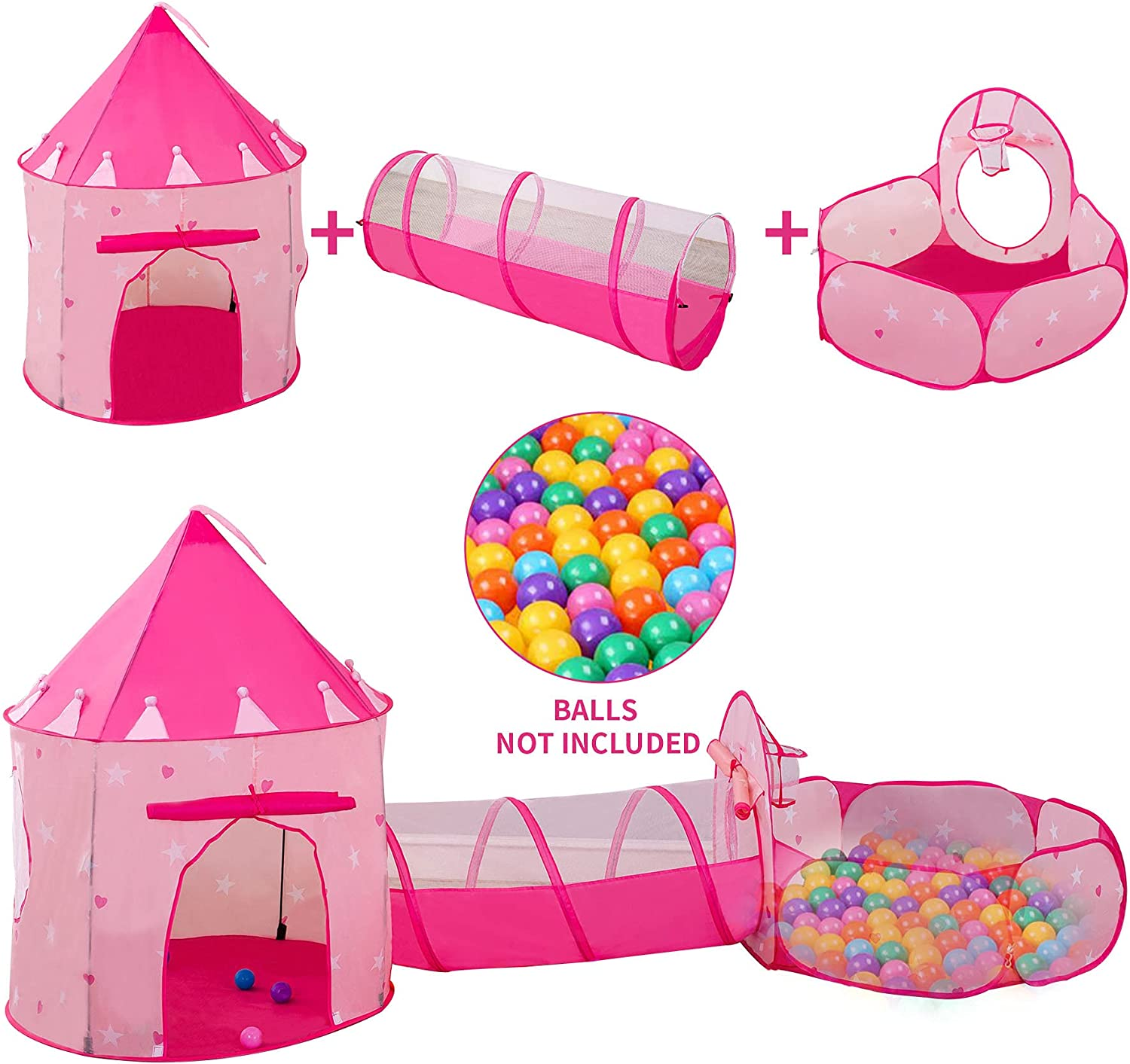 LDTNET 3 in 1 Kids Play unisex Tent Challenge the lowest price Ball for Girls P with Pit