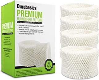 Durabasics 4-Pack of Compatible Humidifier Filters, Replacement for Honeywell HAC-504 and HAC-504AW, Filter A, for HCM 350 and Other Cool Mist Models (Renewed)