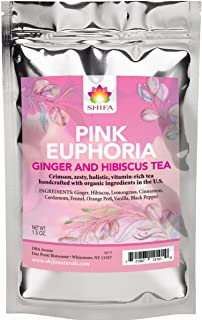 Shifa Pink Euphoria Ginger and Hibiscus Tea with Herbs, Phytonutrients and Antioxidants (1.5 oz.)