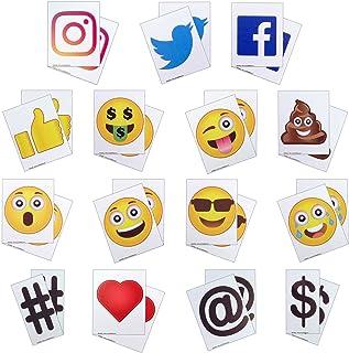 KitAbility Get More Social 4 Inch Set for White Message Board Sidewalk Signs, Includes Additional Emoji, Social Media Symb...