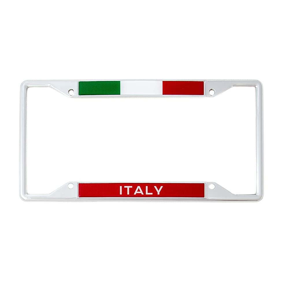 Desert Cactus Country of Italy Italian Flag License Plate Frame for Front Back of Car Vehicle Truck Italian