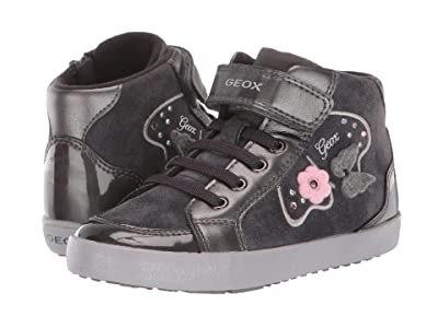 Geox Kids Kilwi 62 (Toddler) (Black/Charcoal 2) Girls Shoes