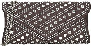Dasein Rhinestone Evening Bags Glitter Clutch Handbags Studded Envelope Purses for Prom Party Wedding
