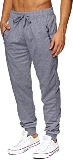 Sponsored Ad - Newbby Mens Athletic Elastic Waist Drawstring Joggers Casual Closed Bottom Lounge Pants Gym Sweatpants with...