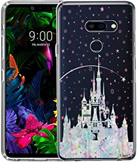LG G8 ThinQ Case, Unov Clear with Design Soft TPU Shock Absorption Slim Embossed Pattern Protective Back Cover(Watercolor Castle)