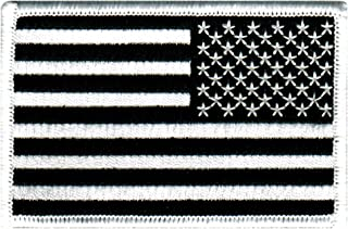 American Flag Embroidered Patch Reverse Black United States Subdued Military