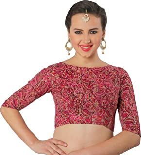 6e963c02e68c95 Amazon.in: Pinks - Blouses / Ethnic Wear: Clothing & Accessories