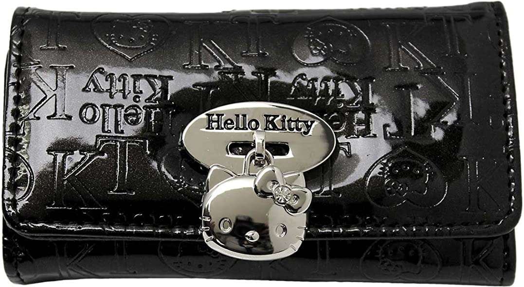 債権者教育する結婚する[サンリオ]SANRIO キーケース ハローキティ 合皮 5連キーケース HK33-6 レディース ブラック