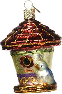 Old World Christmas Ornaments: Home Gifts Glass Blown Ornaments for Christmas Tree, Charming Birdhouse