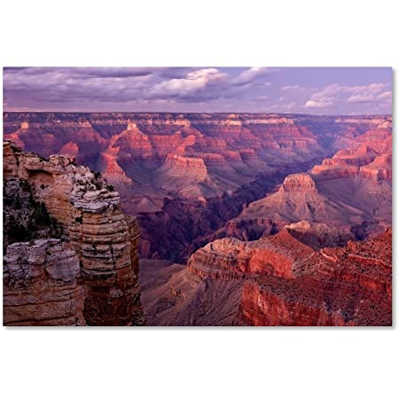 Amazon Com Grand Canyon Near Mather Point By Mike Jones Photo 16x24 Inch Canvas Wall Art Posters Prints
