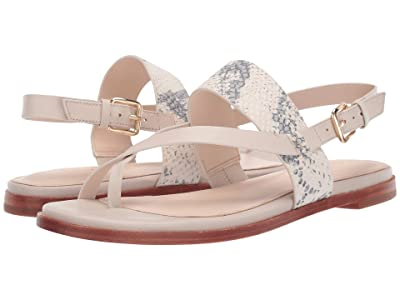 Cole Haan G.OS Anica Thong Sandal (Ivory Roccia Print Leather/Pumice Stone Leather) Women