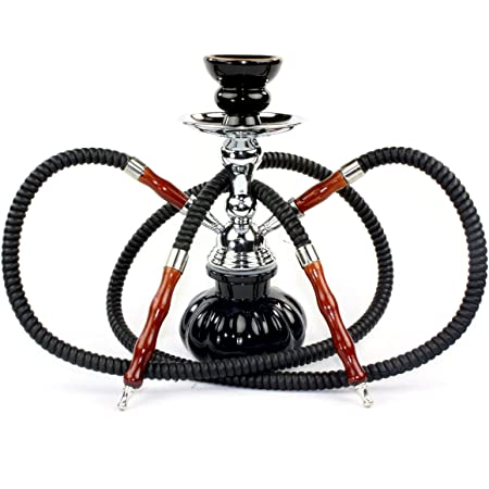 LARGE 4-Hose Hookah Stem 6 Grommets Shisha narghile for hookah pipe smoking