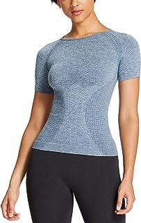 Aoxjox Women's Vital Gym Sport Yoga Workout Running Seamless Short Sleeve T-Shirt