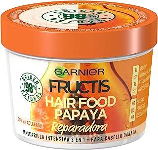 Garnier Fructis Hair Food Mascarilla de Papaya Reparadora para Pelo Dañado - 390 ml