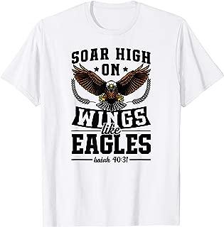 Soar High On Wings Like Eagles Christian Easter Bible Gift T-Shirt