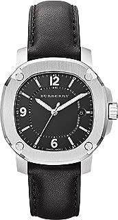 BURBERRY Swiss The Britain LumiNova Black Leather UNISEX Men Women Luxurious Watch Black Date Dial BBY1501
