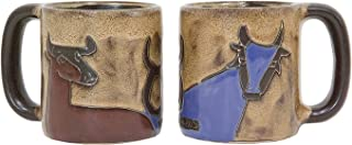 One (1) MARA STONEWARE COLLECTION - 16 Oz Coffee Cup Collectible Dinner Mug - Zodiac Sign - Taurus The Bull Design