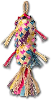 """Planet Pleasures Spiked Pinata Small 7"""" Natural Bird Toy"""