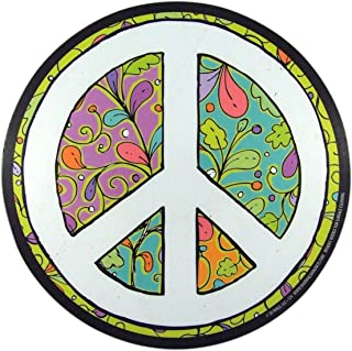 Colorful Peace Sign Magnet for Car Locker or Refrigerator, 5 3/4 Inch