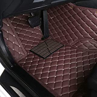 CNANOO Impermeables Custom Fit Luxury XPE Leather Car Mats All Weather 3D Full Rounded Front Rear Car Floor Liners para Mercedes Benz S Class S280 S300 S320 S400 S500 S550 2000-2005, café