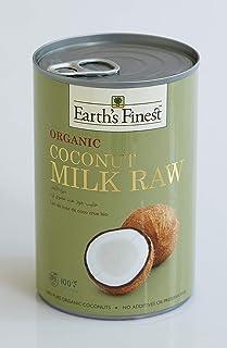 Earth's Finest Organic Coconut Milk Raw - 400ml | Raw Organic Coconut Milk for Professional and Home Cooking | 100% Plant-...