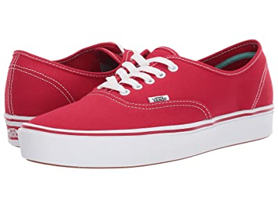 Vans ComfyCush Authentic ((Classic) Racing Red/True White) Athletic Shoes
