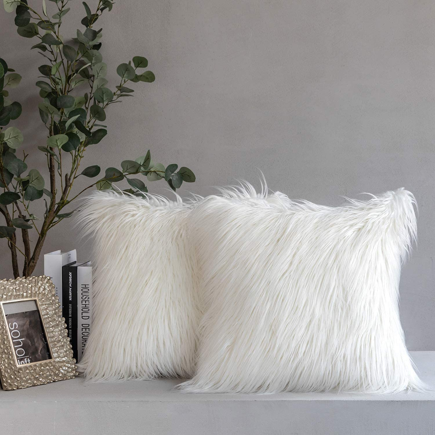 Phantoscope Pack of 2 Faux Fur Pillow Spring new work one after another Throw Covers Cover Cushion shipfree
