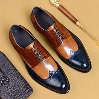 New Business Brock Cowhide British Lace-up Shoes, Heightening, Shock Absorption, Breathable, Wear-resistant, Non-slip