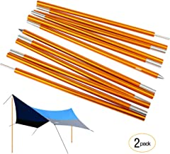Overmont Tarp Poles Adjustable Telescoping Aluminum Tarp Poles, Collapsible Lightweight Poles for Camping, Backpacking, Hammocks, Shelters, and Awnings (Pack of 2) 7.2ft Each