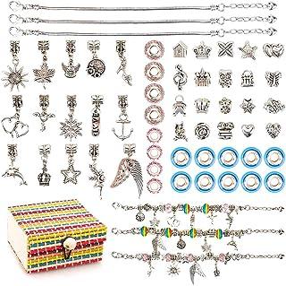 Fun Bracelet Making Kit DIY Craft Jewelry Gift Set for Kids Girls
