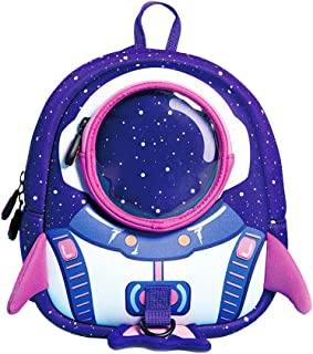 NANAHouse Kindergarten Toddlers Anti-Lost Lovely 3D Cartoon Rocket Lightweight Backpack for Children Pre School Baby (Small, Purple)