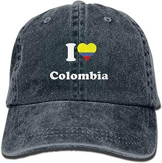 Love Colombia Gorras de béisbol Ajustables Sombreros de Mezclilla Cowboy Sport Outdoor