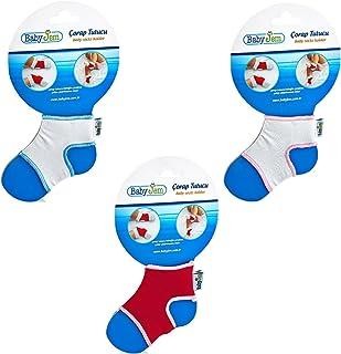 BabyJem 8699207310481 Bebek Çorap Tutucu, Beyaz Pembe