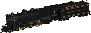 Bachmann Industries PRR K-4S 4-6-2 Pacific Steam Locomotive with DCC Sound - Pre-War with Slat Pilot (N Scale), Brunswick Green/Gold/Red Stripes