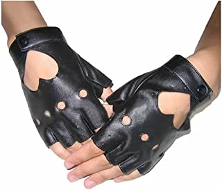 GOOTRADES Punk Fingerless Dance Glove For Women, Jazz Style Glove, PU Leather