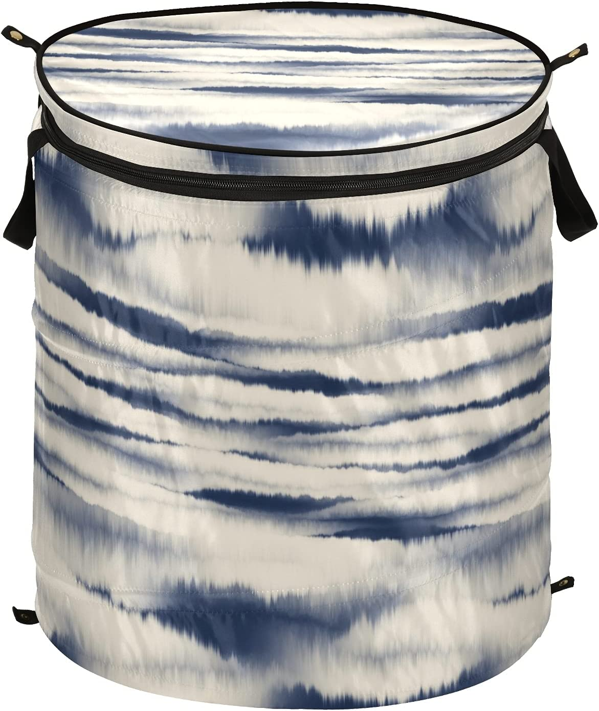 Ultra-Cheap Deals Tie Dye Pop-Up Laundry Hamper Storage with Lid Ba Zipper OFFicial site