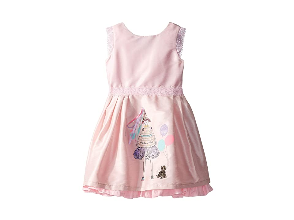 fiveloaves twofish Birthday Wishes Party Dress (Toddler/Little Kids/Big Kids) (Pink) Girl