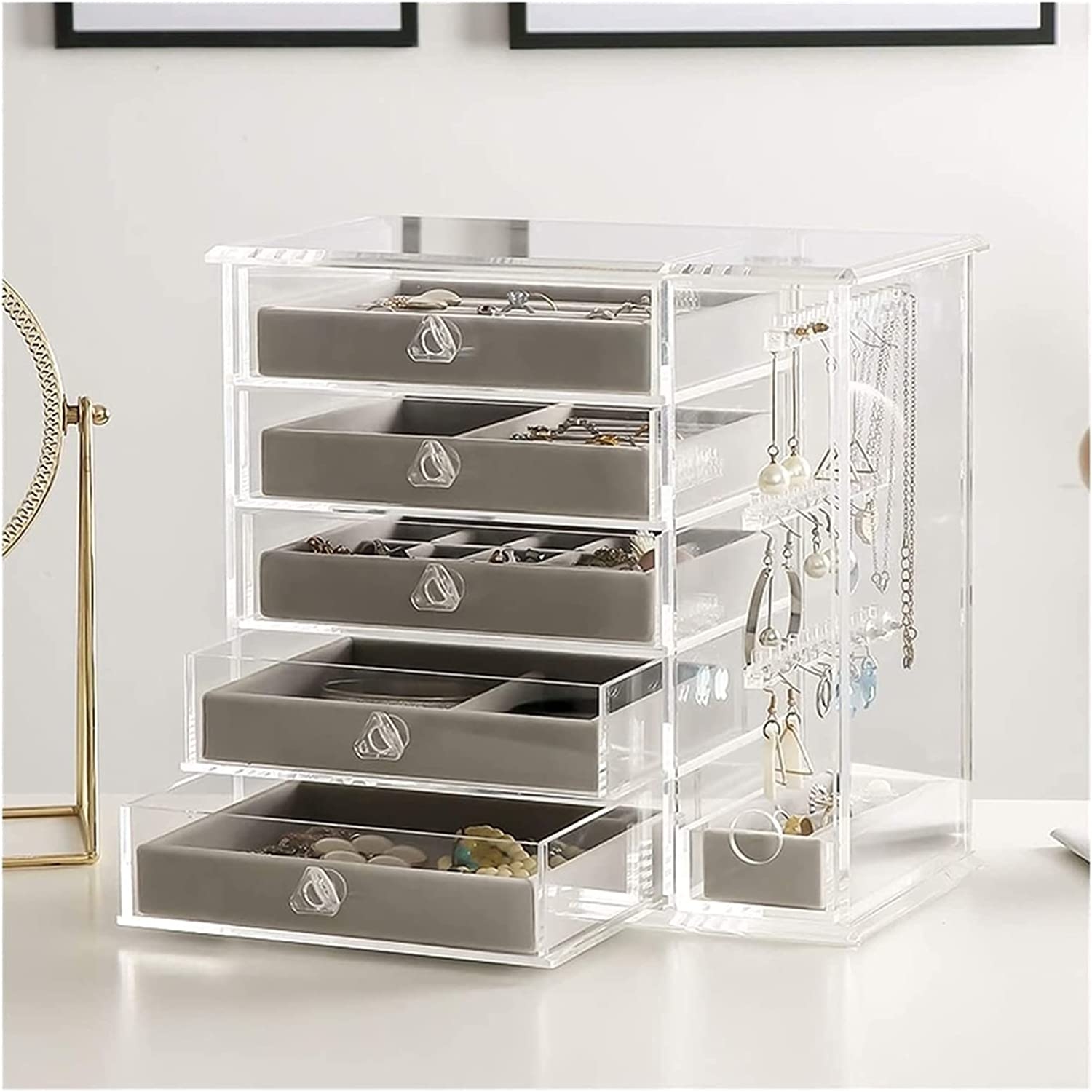 Exquisite Makeup Transparent Cheap mail order specialty store Acrylic Clea Organizer Box Jewelry latest