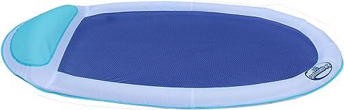 tienda DMGF Swimways Spring Hamaca Flotante Ergonomic Inflatable Inflatable Inflatable Backrest Pool Lounger Portable Summer Al Aire Libre Beach Party Mesh Flotañores Juguetes Adultos Niños 65X40x5.5 In azul  suministro directo de los fabricantes