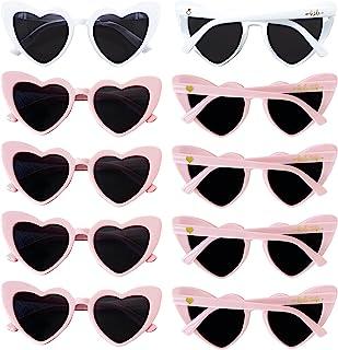 10pcs Bachelorette Party Retro Heart Sunglasses, Bridal Shower Supplies Wedding Favor Bridesmaid Gifts