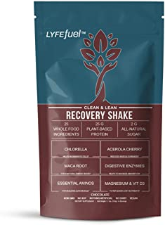 Post-Workout Recovery Shake by LYFE Fuel | All-in-One Sports Nutrition Drink for Rapid Muscle Replenishment | 25g Plant Ba...